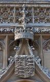 stonework короля s гребеня коллежа cambridge Стоковое Фото