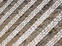 Stonework. Ancient stonework with different material layers, Italy Royalty Free Stock Photos