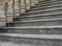 Конец-вверх старых шагов stonework Стоковые Изображения