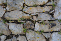 Stonework background texture. Old grey stone wall texture Royalty Free Stock Images