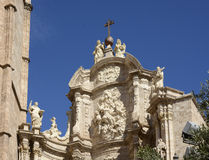 Stonework on cathedral in Valencia. Spain Stock Photography