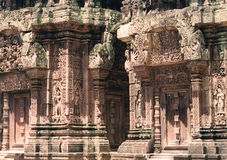 Stonework detail. Level of detail on temple complex Stock Image