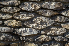 Stonework, fragment of a wall Royalty Free Stock Images