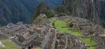 The Ancient Inca Ruins in Machu Picchu, Peru stock photography