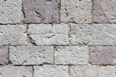 Stonework made from white-pink limestone Royalty Free Stock Image