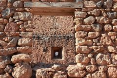 Stonework masonry, Fragocastelo, Crete Royalty Free Stock Images