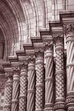 Stonework on National History Museum stock photos