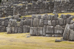 Stonework of the walls of Sacsayhuaman, in Cusco, Peru Royalty Free Stock Image