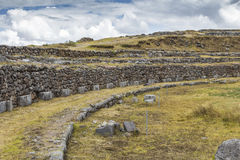 Stonework of the walls of Sacsayhuaman, in Cusco, Peru Royalty Free Stock Photography