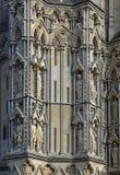 Stonework on Wells Cathedral, Somerset, England Stock Image