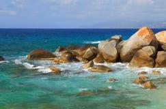 Stoney Bay Beach, Virgin Gorda, Britische Jungferninseln Lizenzfreies Stockfoto