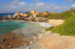Stoney Bay Beach, Virgin Gorda, Isole Vergini Britanniche fotografia stock libera da diritti