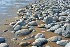 Stoney beach Royalty Free Stock Photo