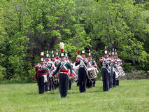 Stoney Creek Battlefield-band en trommel 2009 royalty-vrije stock fotografie