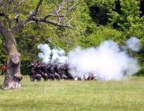 Stoney Creek Battlefield combat 2009 Royalty Free Stock Photo