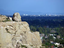Stoney Point, City of Los Angeles. Stoney point and the San Fernando Valley on the edge of the City of Los Angeles Royalty Free Stock Photography