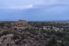 Stoney Point Dusk View in Los Angeles Californië Stock Foto's