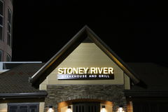Stoney River Steakhouse and Grill. Stoney River Steakhouse sells prime steaks, seafood, and other American food fare royalty free stock photography