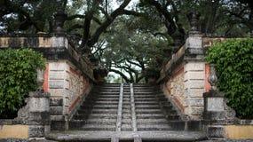 Stoney Stairs en jardín Fotografía de archivo libre de regalías