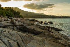 Stoney wyspy brzeg Fotografia Royalty Free