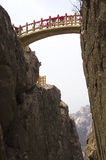 Stong bridge cross China famous mountain Stock Photo