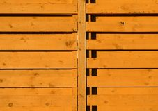 Wooden garden fence Stock Images