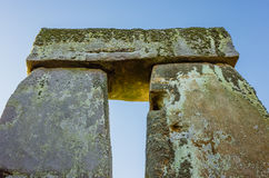 Stonhenge Arch. Detail shot of a single Arch of Stonehenge in early dawn stock photo
