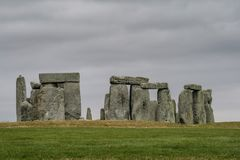 Stonhenge in England United Kingdom. Feb, 2017 United Kingdom - Stonehenge an ancient site over five thousand years old is a popular tourist destination Stock Photography