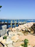 Stonington点的船坞 库存图片