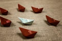 Stonowane barwione papierowe łodzie szklane Zdjęcie Royalty Free