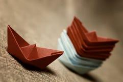 Stonowane barwione papierowe łodzie szklane Obrazy Royalty Free