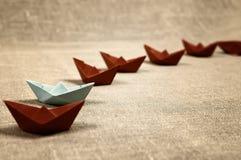 Stonowane barwione papierowe łodzie szklane Fotografia Royalty Free