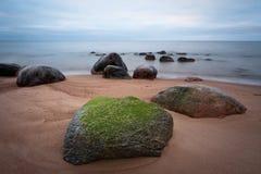 Stony Baltic beach Royalty Free Stock Images