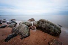 Stony Baltic beach Royalty Free Stock Photography