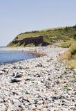 Stony beach. A stony beach in Wales royalty free stock photo