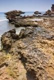 Stony beach in Egypt Royalty Free Stock Photo