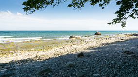 Stony beach in Lohme Stock Images
