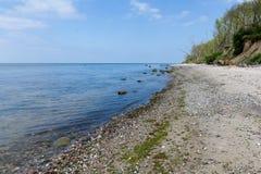 Stony beach and steep coast on the Baltic Sea Stock Photo