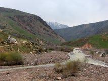 Stony bed. Of mountain stream. Uzbekistan, spring 2008 Royalty Free Stock Photos