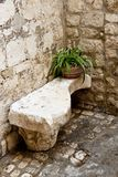 Stony bench - Trogir. Royalty Free Stock Photos