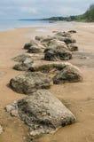 Stony on coast of Baltic sea Royalty Free Stock Photography