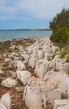 Stony coast of Istria, Croatia Royalty Free Stock Photos