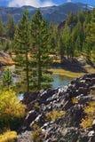 Stony coast of lake Royalty Free Stock Photography