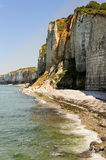 Stony coast in the North of France Stock Image