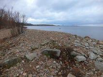 Stony coast Royalty Free Stock Photos