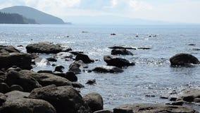 Stony coast stock footage