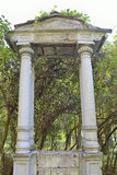 Stony columns of portal Stock Photo