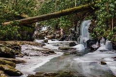 Stony Creek congelado - 2 fotografia de stock