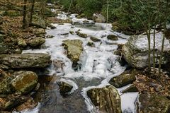 Stony Creek - 3. Stony Creek located below the Cascade Falls, Jefferson National Forest, Giles County, Virginia, USA Royalty Free Stock Photo