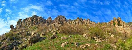 Stony Demerdzhi Mountain panorama (Crimea, Ukraine) Royalty Free Stock Photography